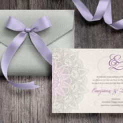 Προσκλητήριο γάμου Κλασικό