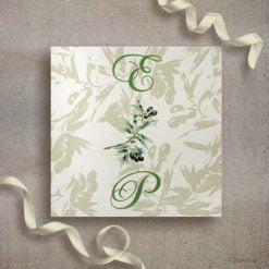 Πρόσκληση γάμου ελιά
