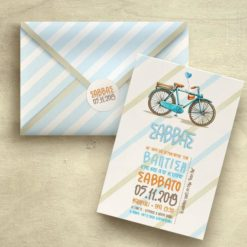 Προσκλητήριο βάπτισης Ποδήλατο για αγόρι