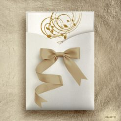 Πρόσκληση γάμου κλασική Floral