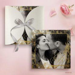 Προσκλητήριο Γάμου φωτογραφία λουλούδια
