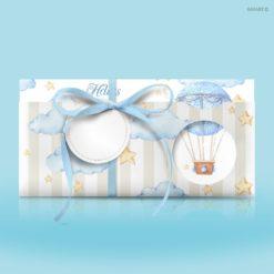 Προσκλητήρια βάπτισης Αερόστατα